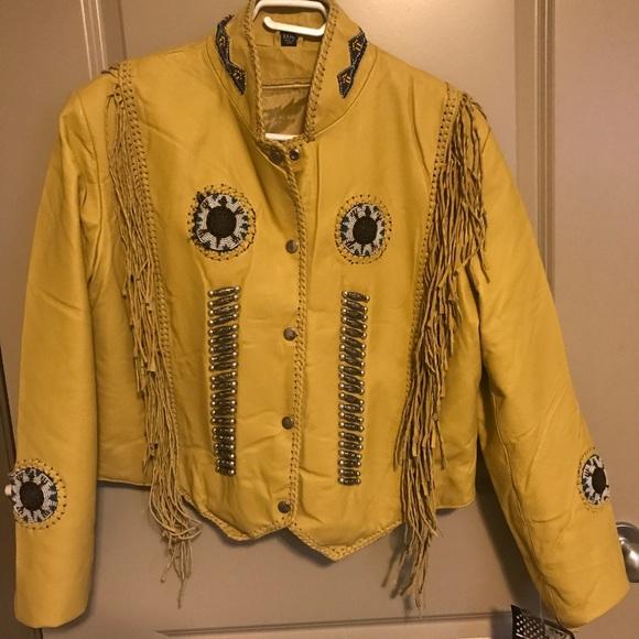 Western Style Fringe Lined Jacket
